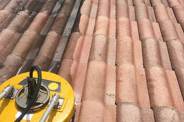 Pressure Cleaning Spanish Tile Roof